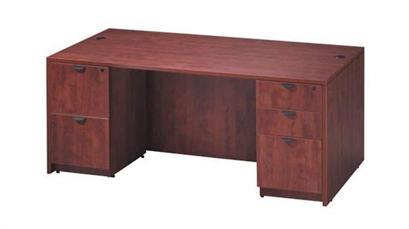 "Executive Desks Office Source 71"" x 36"" Double Pedestal Desk"