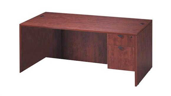 "Executive Desks Office Source 66"" x 30"" Single Pedestal Desk"