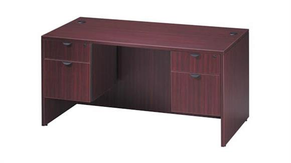 "Executive Desks Office Source 66"" Double Pedestal Desk"