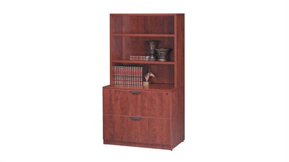 File Cabinets Lateral Office Source 2 Drawer Lateral File with Hutch