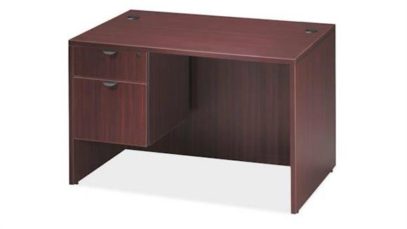 "Compact Desks Office Source 48"" x 24"" Single Pedestal Desk"