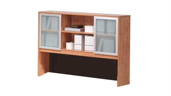 "Hutches Office Source 71""W x 48""H Hutch with Glass Doors"