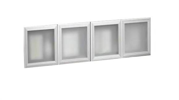 "Hutches Office Source Silver Framed Glass Doors for 71"" Hutch (Set of 4)"