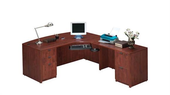 L Shaped Desks Office Source Bow Front L Shaped Desk