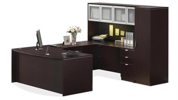 U Shaped Desks Office Source U Shaped Desk with Hutch and Storage