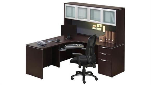 Corner Desks Office Source Corner Desk with Hutch