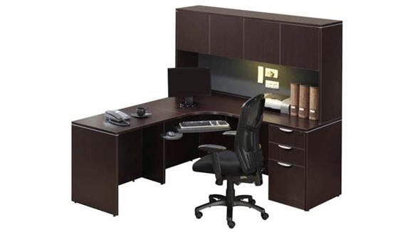 Corner Desks Office Source Corner Desk with Hutch