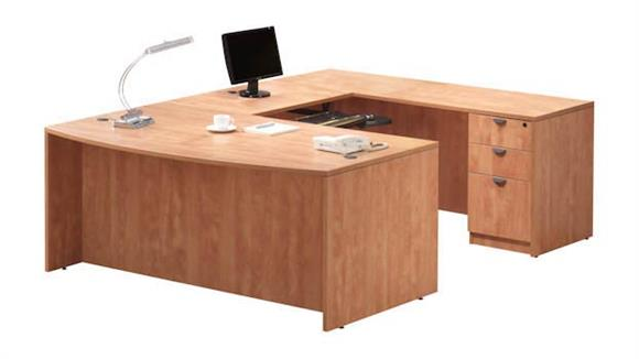 U Shaped Desks Office Source U Shaped Desk with 1 Pedestal
