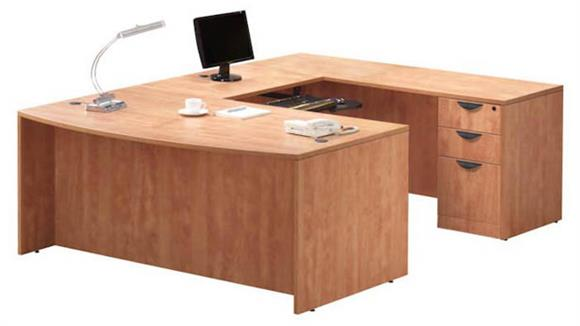 U Shaped Desks Office Source U Shaped Desk with 2 Pedestals