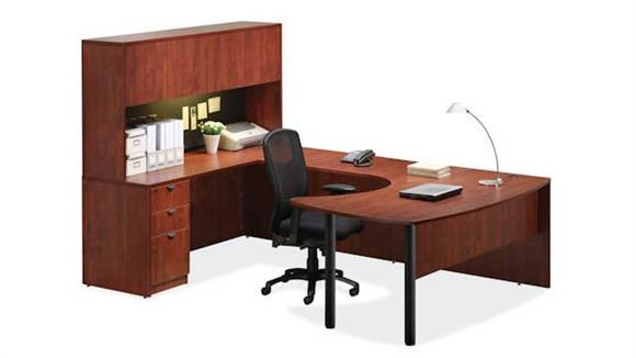 U Shaped Desks Office Source Arc Top U Shaped Desk with Hutch