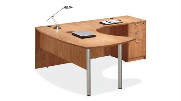 L Shaped Desks Office Source Arc Top L Shaped Desk