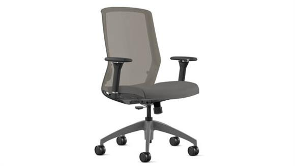 Office Chairs Office Source High Back, Mesh Chair with High Profile Gray Base