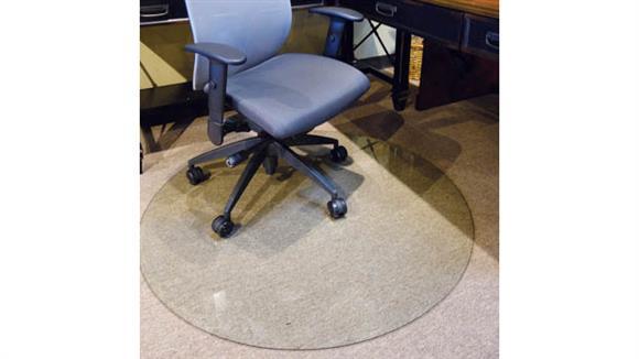 "Chair Mats Office Source 48"" Round Glass Chairmat"