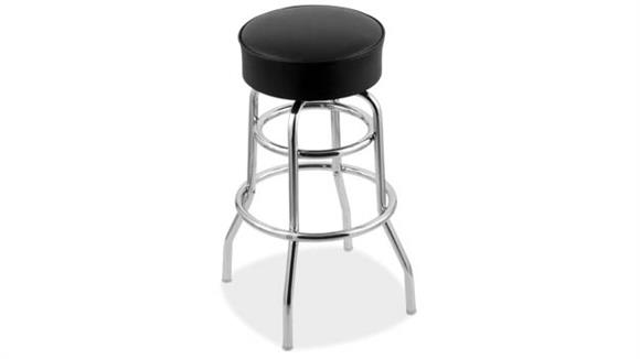 """Bar Stools Office Source 30""""H Vinyl Stool with Chrome Base"""