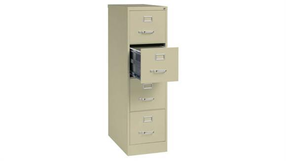 "File Cabinets Vertical Office Source 25"" Deep 4 Drawer Letter Size Vertical File"