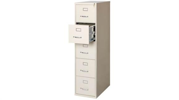 "File Cabinets Vertical Office Source 26-1/2"" Deep 5 Drawer Letter Size Vertical File"