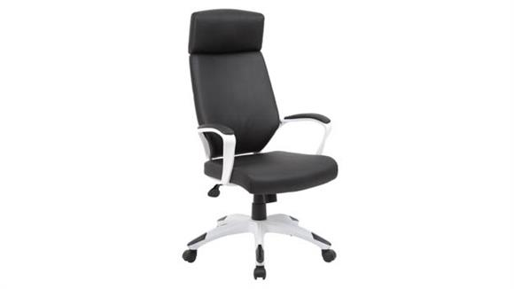 Office Chairs Office Source High Back Modern Executive Chair with White Frame