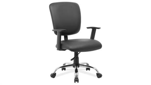 Office Chairs Office Source Mid Back Task Chair with Chrome Base and Casters