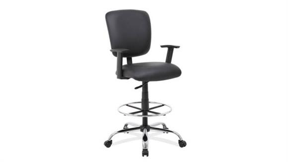Office Chairs Office Source Task Stool with Footring and Chrome Base