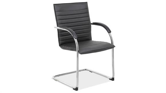 Side & Guest Chairs Office Source Sled Base Guest Chair with Chrome Frame