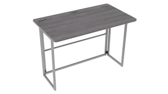 Compact Desks Office Source Folding Desk with Silver Frame