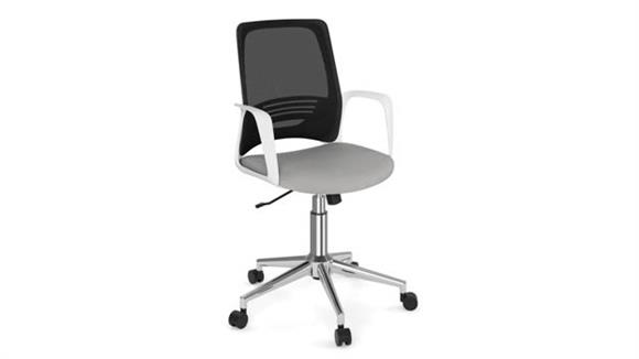 Office Chairs Office Source Mesh Back Task Chair with White Frame & Chrome Base