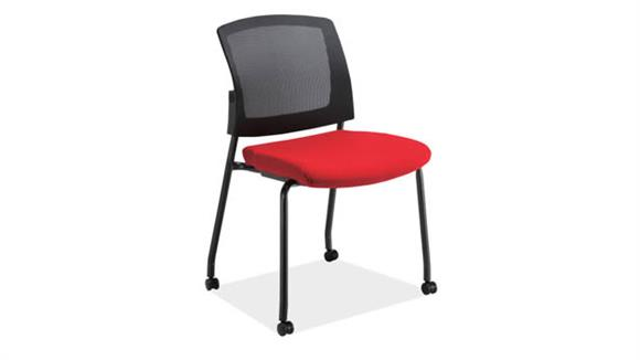 Side & Guest Chairs Office Source Armless Micro Side Chair with Casters