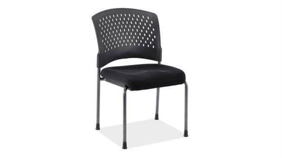 Side & Guest Chairs Office Source Armless Guest Chair with Titanium Frame