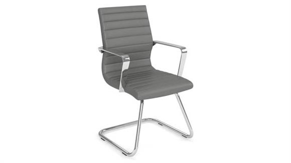 Side & Guest Chairs Office Source Executive Guest Sled Base Chair