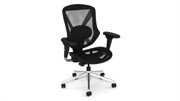 Office Chairs Office Source Mid Back All Mesh Task Chair with Chrome Base