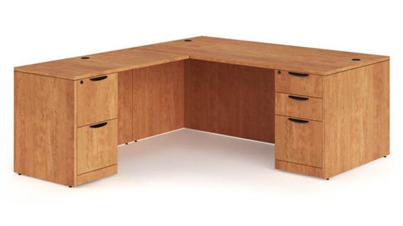"L Shaped Desks Office Source 72"" x 72"" L Shaped Desk"
