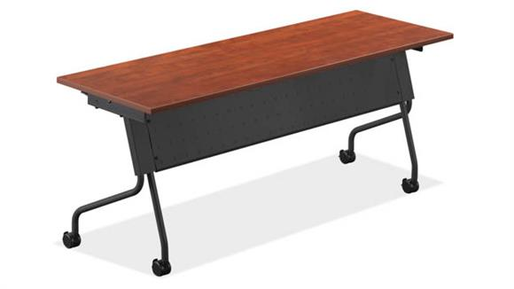 "Training Tables Office Source 60"" x 24"" Flip Top Nesting Table"
