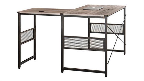 """L Shaped Desks Office Source 48"""" x 48"""" Light Industrial Metal Framed L Shaped Desk"""