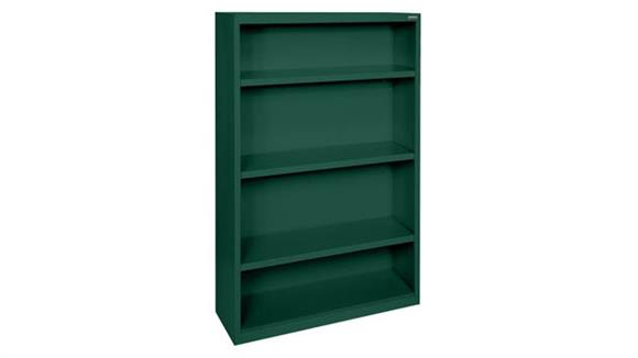 "Bookcases Office Source 35""W x 52""H - 4 Shelf Steel Bookcase"