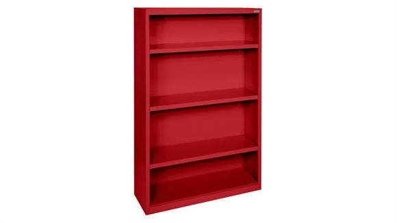 """Bookcases Office Source 35""""W x 52""""H - 4 Shelf Steel Bookcase"""