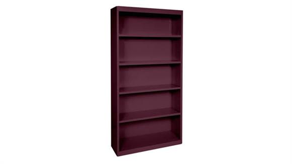 """Bookcases Office Source 35""""W x 72""""H - 5 Shelf Steel Bookcase"""
