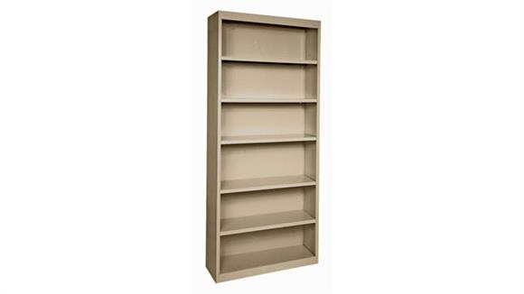 """Bookcases Office Source 35""""W x 82""""H - 6 Shelf Steel Bookcase"""