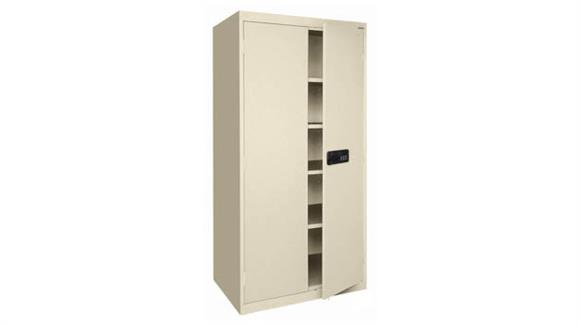 """Storage Cabinets Office Source 36""""W x 18""""D x 72""""H Steel Storage Cabinet with Electronic Lock Keypad"""