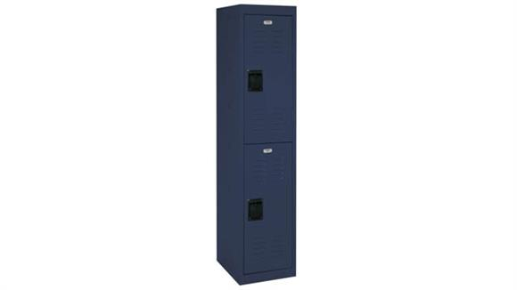 "Lockers Office Source 15""W x 18""D x 66""H Double Tier Locker with 2 Openings"