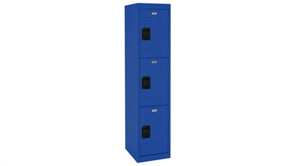 """Lockers Office Source 15""""W x 18""""D x 66""""H Triple Tier Locker with 3 Openings"""