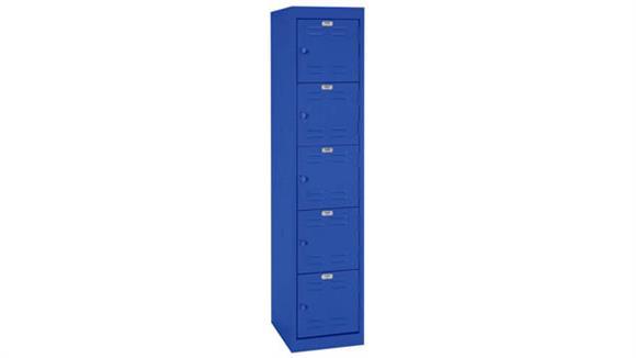 """Lockers Office Source 15""""W x 18""""D x 66""""H Five Tier Locker with 5 Openings"""