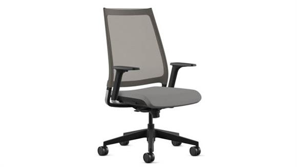 Office Chairs Office Source High Back Mesh Chair with Black Base