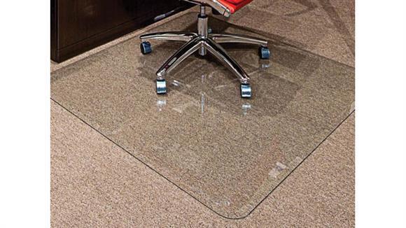 """Chair Mats Office Source 44"""" x 50"""" Glass Chairmat"""