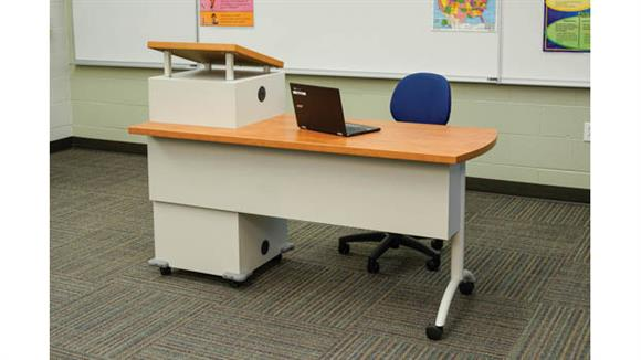 "Computer Desks Office Source 60""W x 30""D Mobile Podium Desk"
