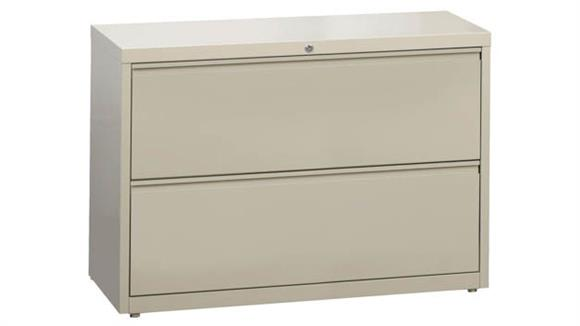 """File Cabinets Office Source 42""""W Two Drawer Lateral File"""
