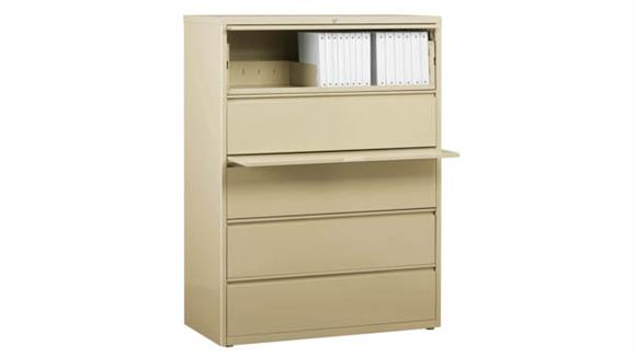 """File Cabinets Office Source 36""""W Five Drawer Lateral File"""