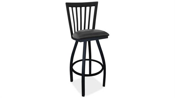 Counter Stools Office Source Cafe Height High Back Wood Chair with Cushioned Seat