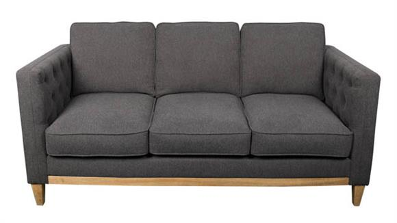 Sofas Office Source Sofa with Light Brown Wood Base