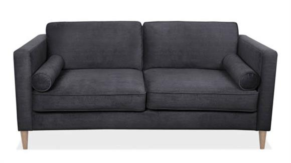 Sofas Office Source Sofa with 2 Bolster Cushions & Wood Post Legs
