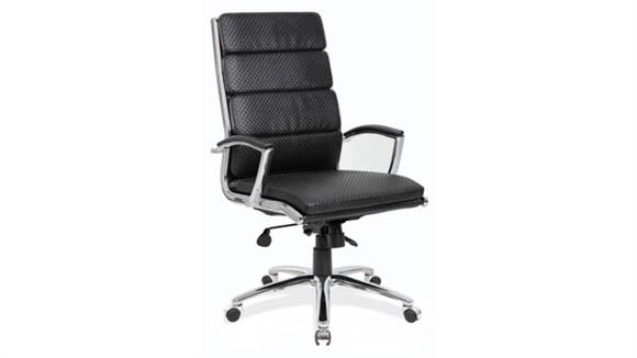 Office Chairs Office Source Executive High Back Chair (Black Waffle Vinyl)